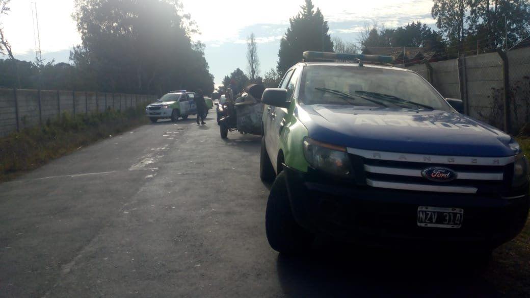 Detuvieron a un hombre que robó 50 metros de cable del country Echeverría del Lago.