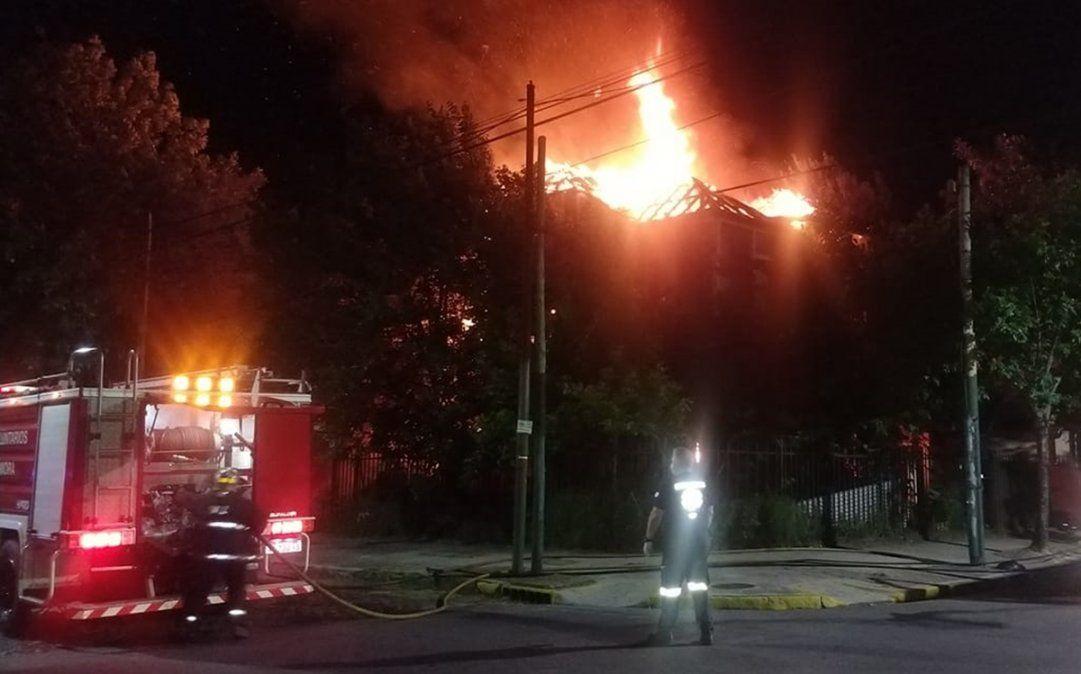 Temperley: una antigua casona fue destruida por un incendio