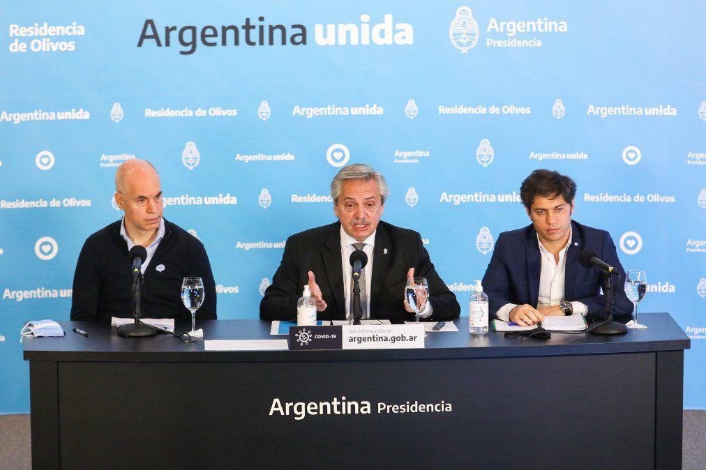 Alberto Fernández anticipó que hablará con Kicillof y Larreta sobrelos controlesde la cuarentena