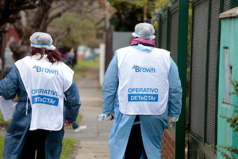 Almirante Brown sumó más de mil casos de coronavirus en el fin de semana
