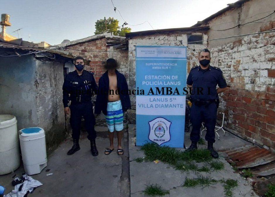 Tres jóvenes detenidos en Lanús.