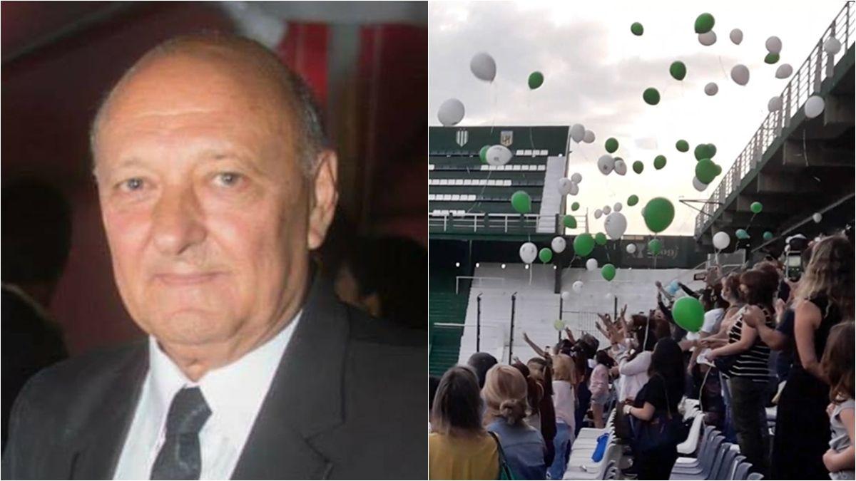 Emoción y lágrimas en Banfield: homenajearon a Carlos Fayanás con una suelta de globos