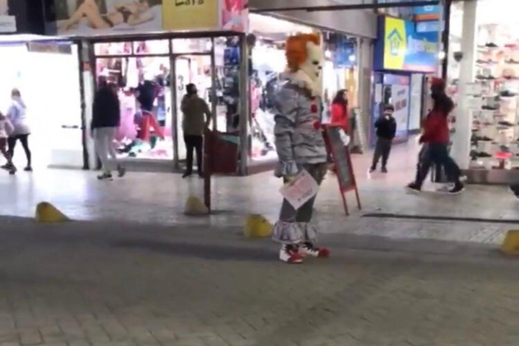 El payaso de It genera terror en Lanús y se volvió viral