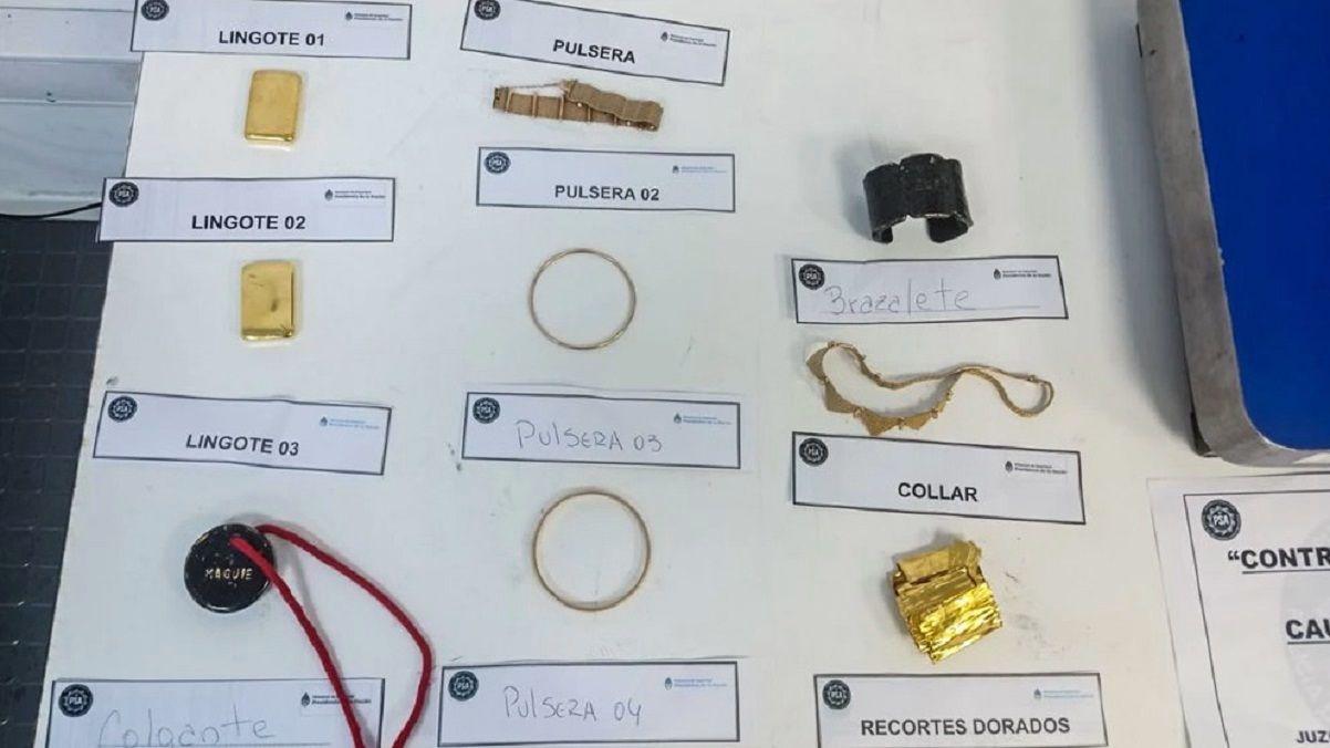 Cayó una azafata en Ezeiza que intentaba contrabandear oro a Miami