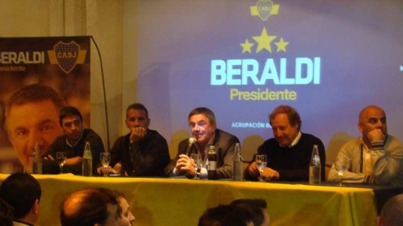 Beraldi estuvo en San Vicente con Cascini, Serna y Basualdo