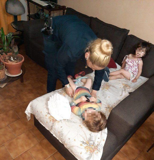 Don Orione: Rescataron a mellizos de dos años abandonados
