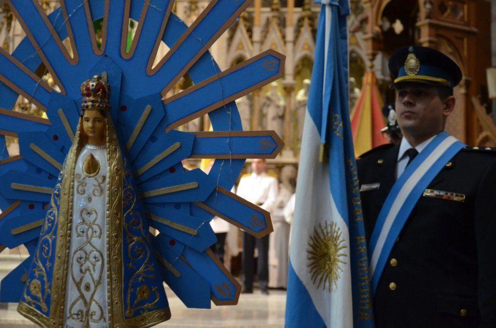La Policía declaró a la Virgen de Luján con el grado de comisaria