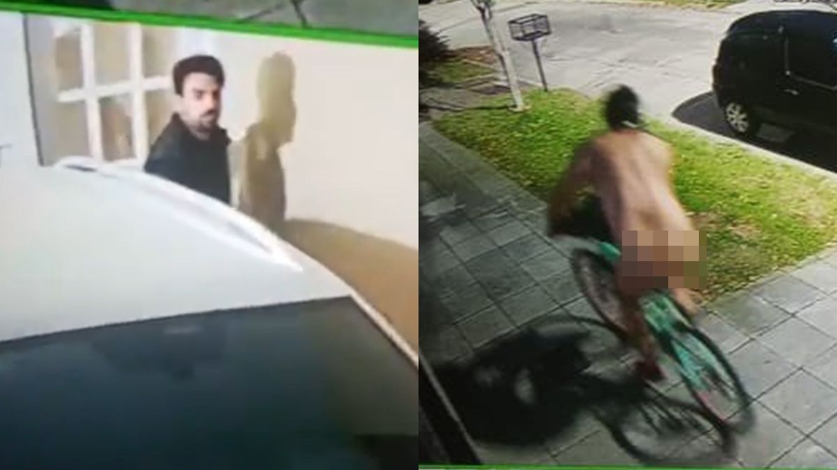 Un hombre se paseó desnudo en bicicleta por Banfield y desconcertó a un vecino