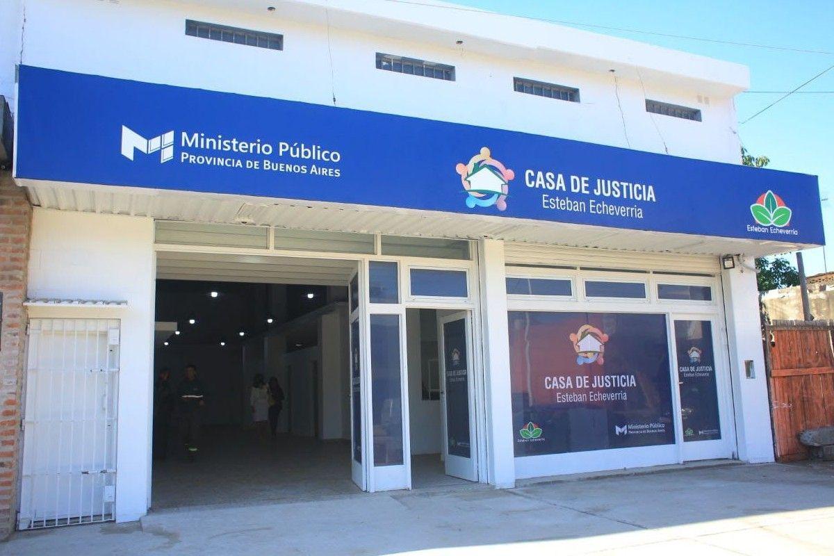 esteban echeverria: fernando gray inauguro la casa de justicia en 9 de abril