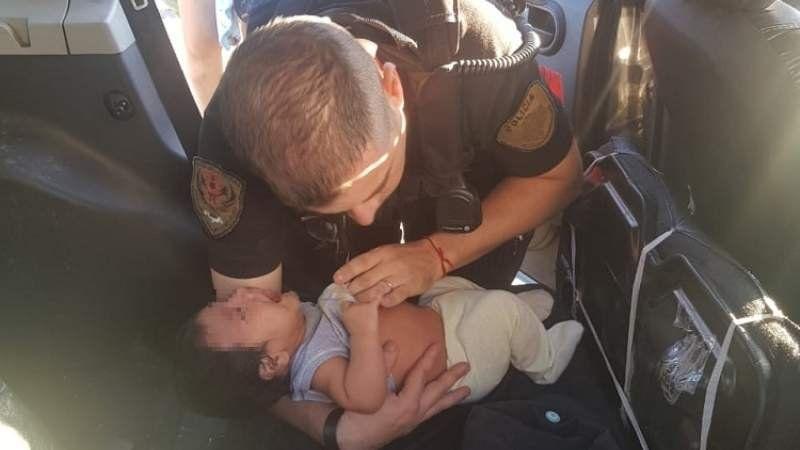 Policía de Brown salvó la vida de un bebé que estaba sin signos vitales