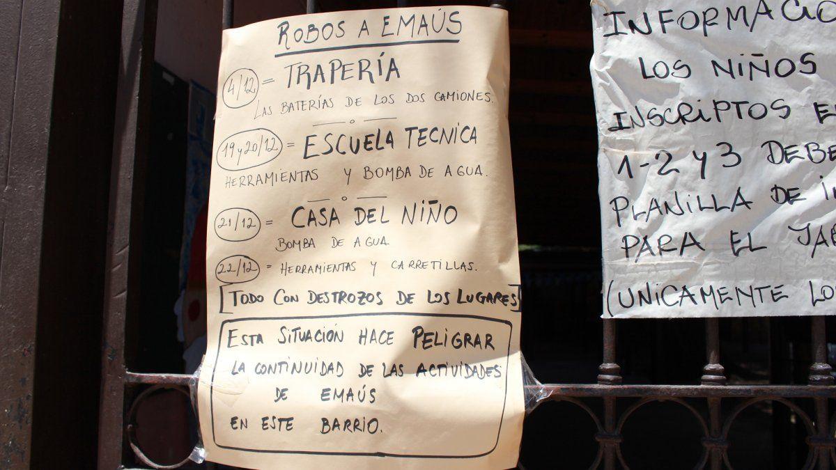 El drama de Emaús: sufrió cinco robos en apenas una semana