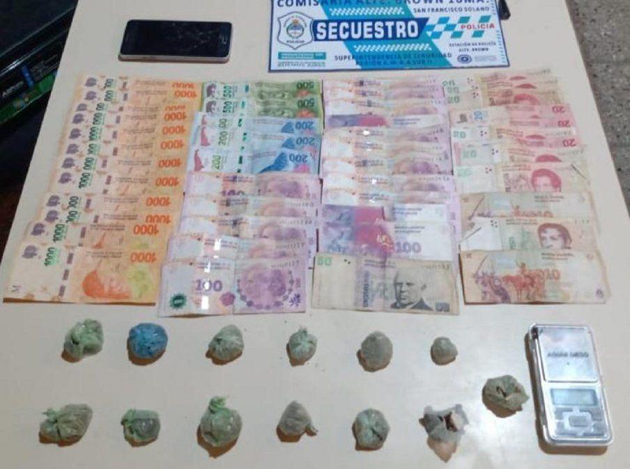 Vendía droga en una plaza de Solano: lo descubrieron en pleno acto