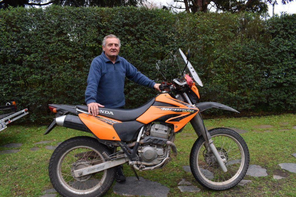 Canning: Las escapadas en motos son tendencia. Marcelo Pastorini, vecino de Los Rosales