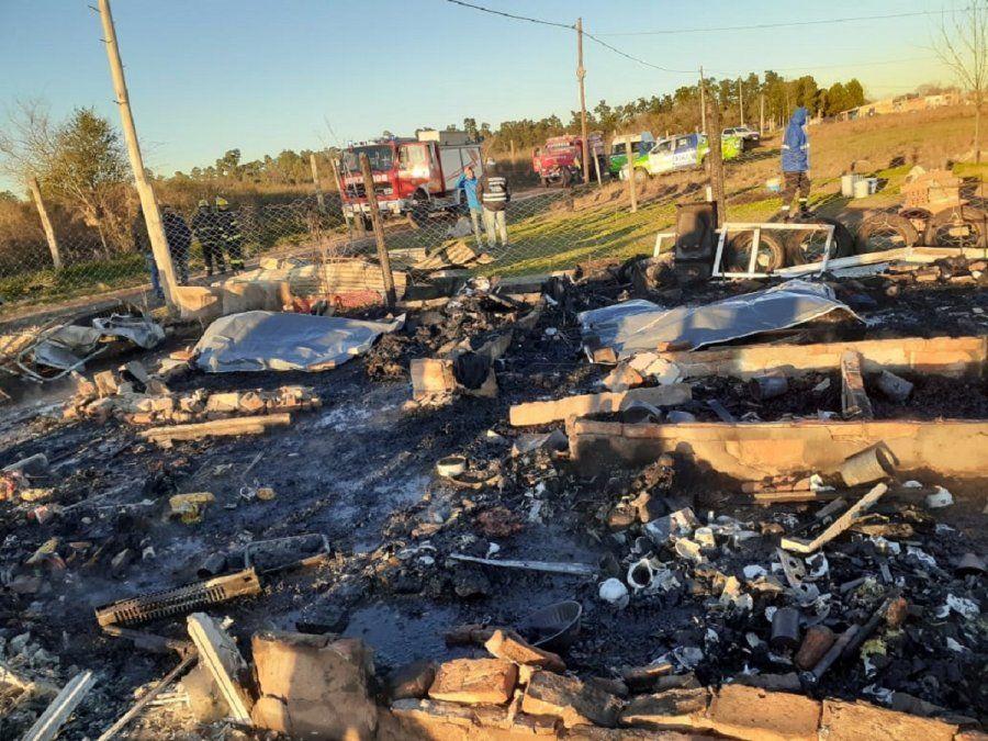Incendio fatal en Brown: murieron una mujer y sus tres hijos