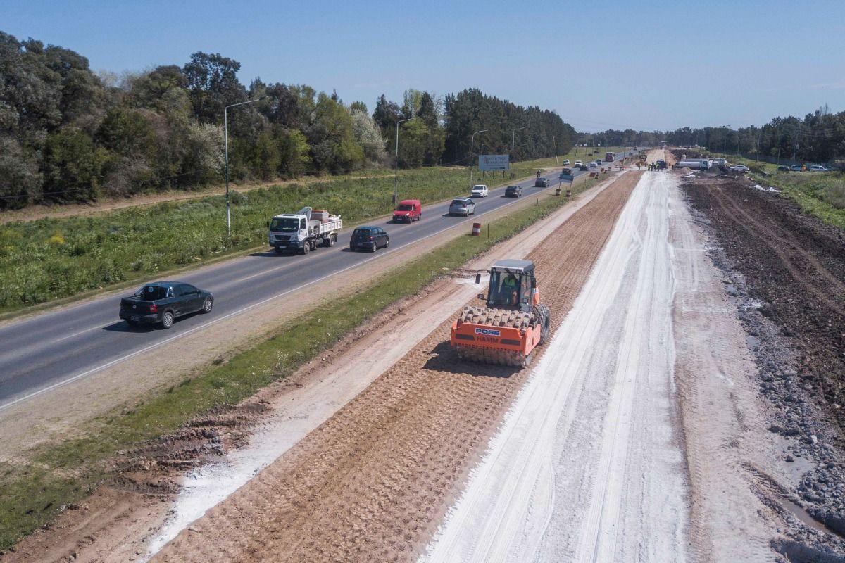 Ruta 58: avanzan las obras de la doble mano entre Canning y San Vicente