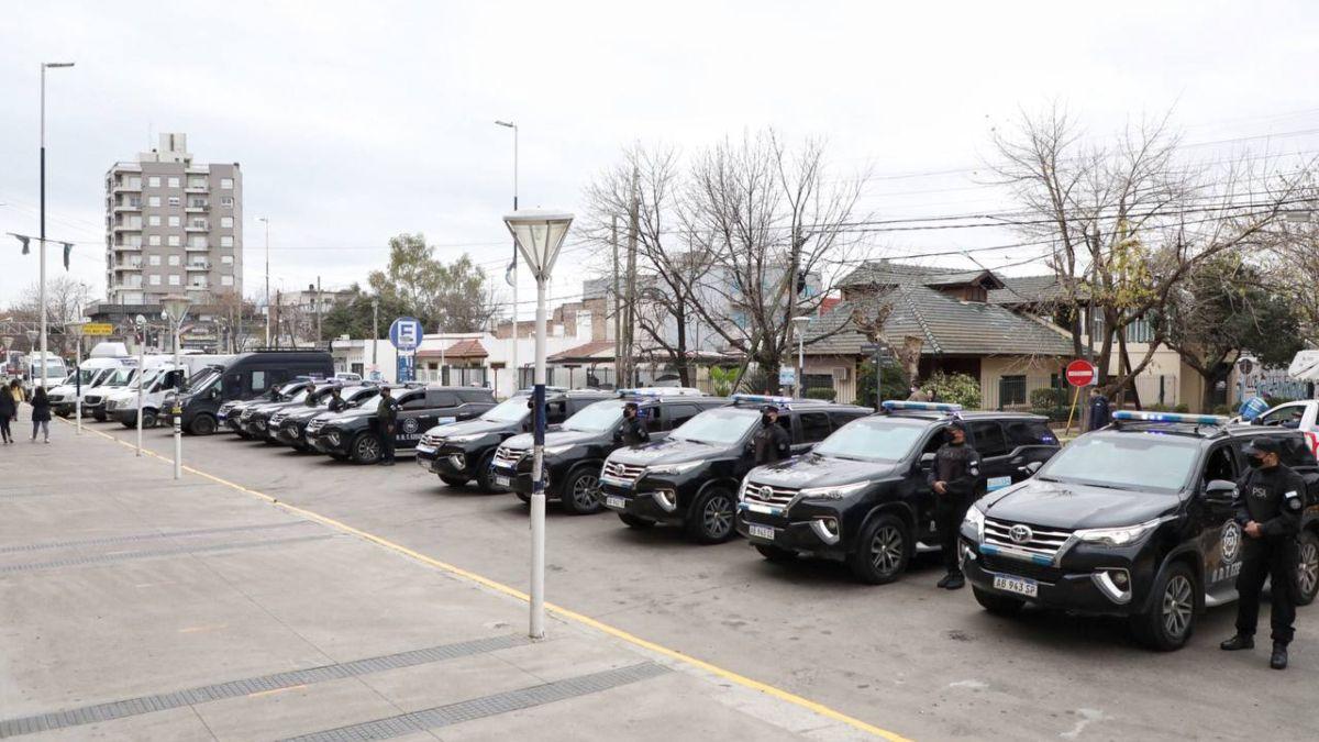 Entregaron nuevos patrulleros a la PSA de Ezeiza.