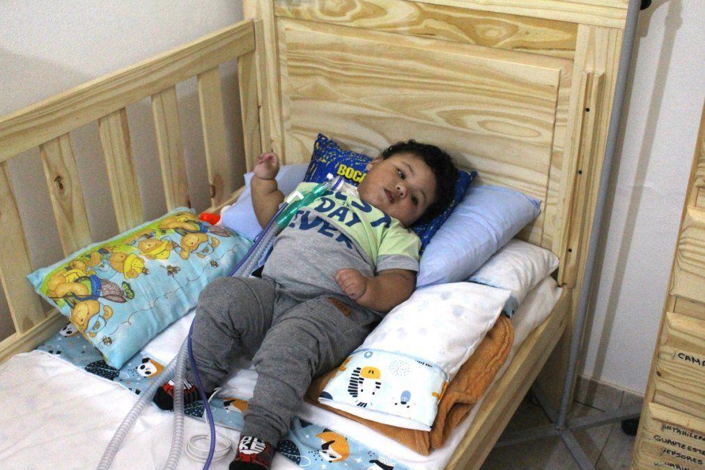 Erick, el bebé de Monte Grande que padece Síndrome Pura, tiene un año y cuatro meses.