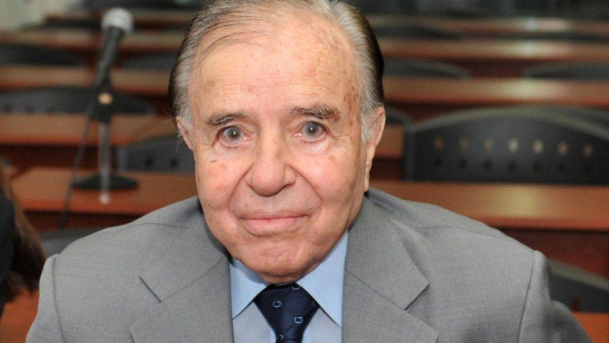 Carlos Menem vuelve a ser internado en su 90 aniversario