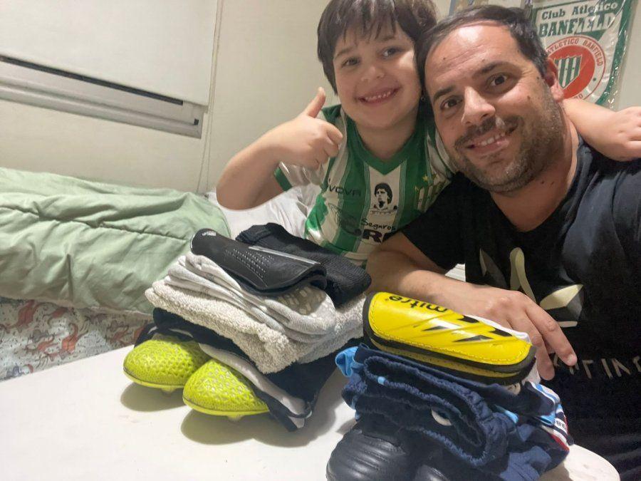 ADCC: El jugador de la semana, Sebastián Carrizo. Junto a su hijo, comparten la pasión por El Taladro