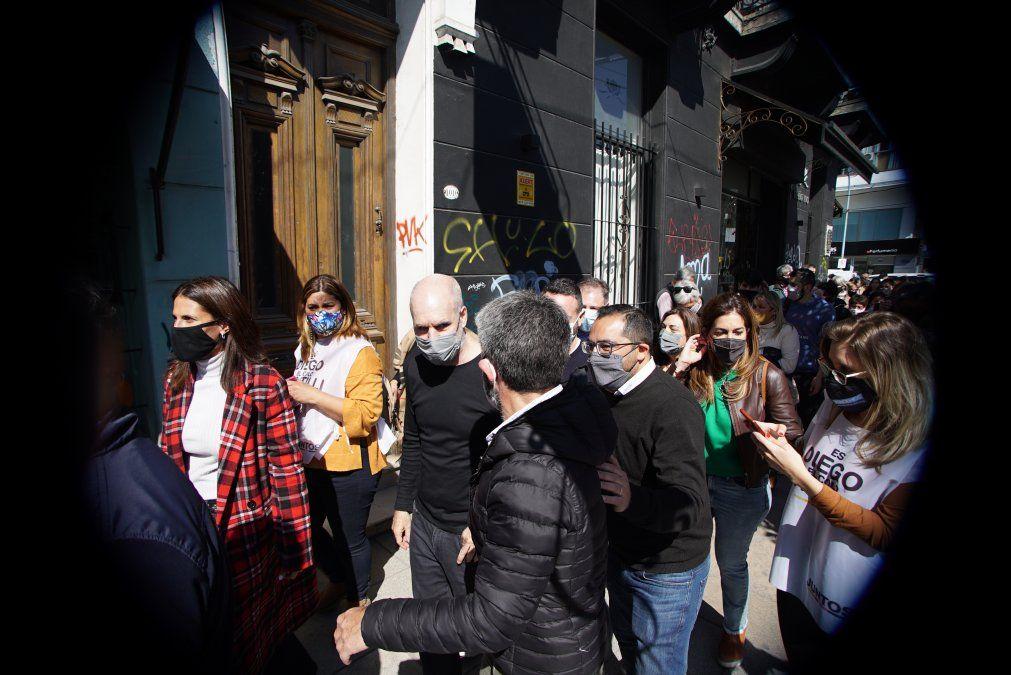 Recorrida de Rodríguez Larreta por Adrogué: estuvo con comerciantes en el centro