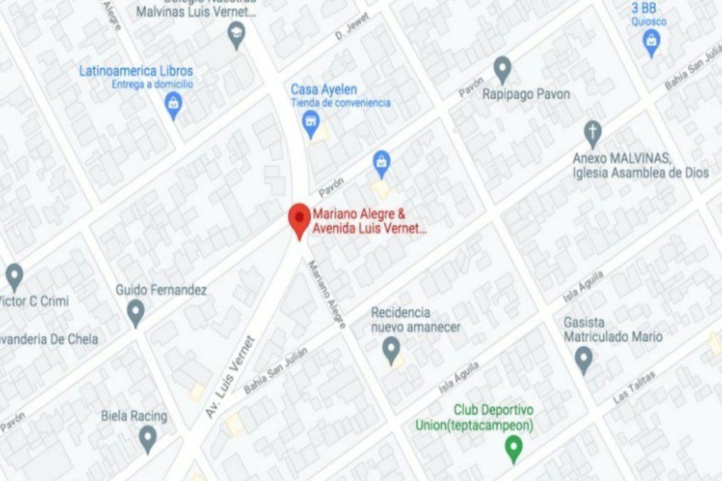 El hecho sucedió entre la avenida Luis Vernet y Mariano Alegre, en Monte Grande.