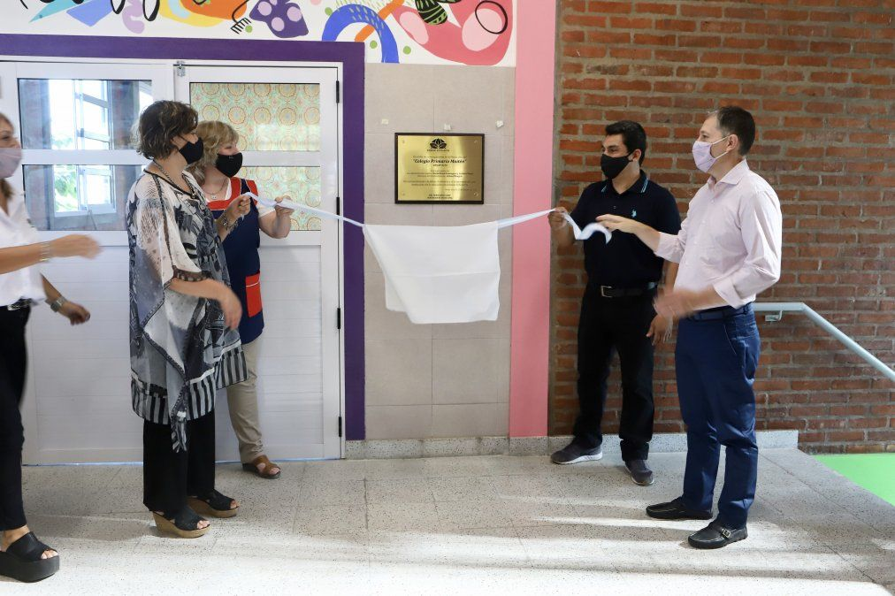 Escuela de Monte Grande inauguró aulas junto a Fernando Gray