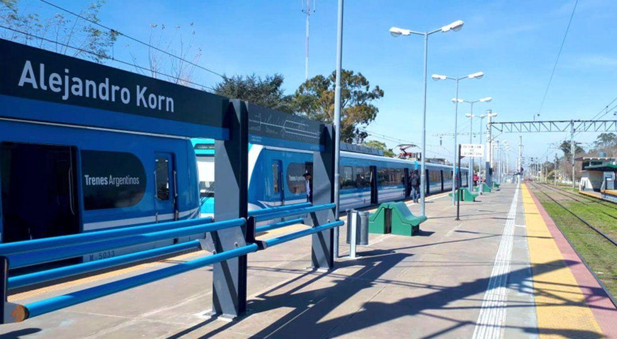 En el primer viaje del Ferrocarril del Sur, la estación Alejandro Korn se llamaba San Vicente.