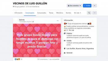 Un reclamo en un grupo de Facebook de vecinos de Luis Guillón que se hizo viral