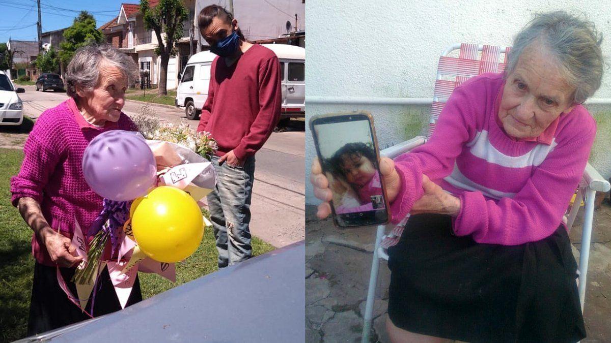 Una reconocida vecina de Monte Grande festejó sus 80 años