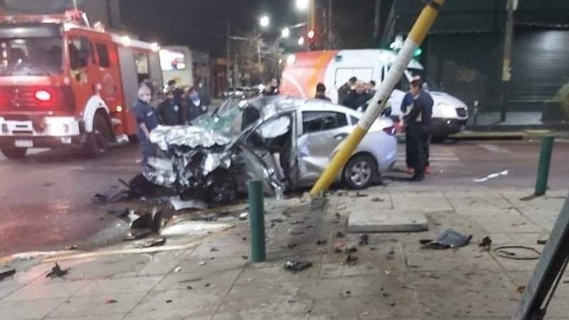 Terrible impacto: así fue el violento choque en Lomas de Zamora
