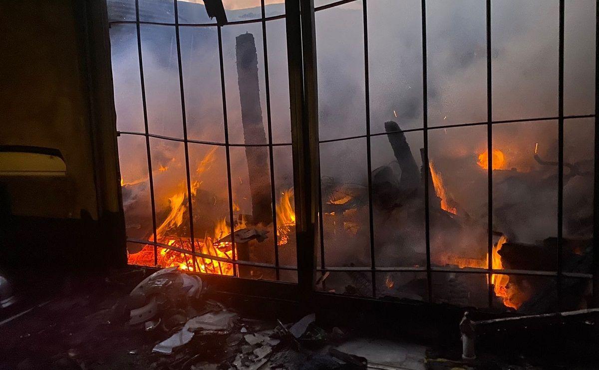 Incendio en Monte Grande