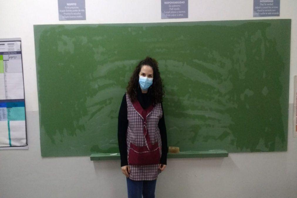Paola Bacchetto es maestra en el Instituto Grilli de Monte Grande.