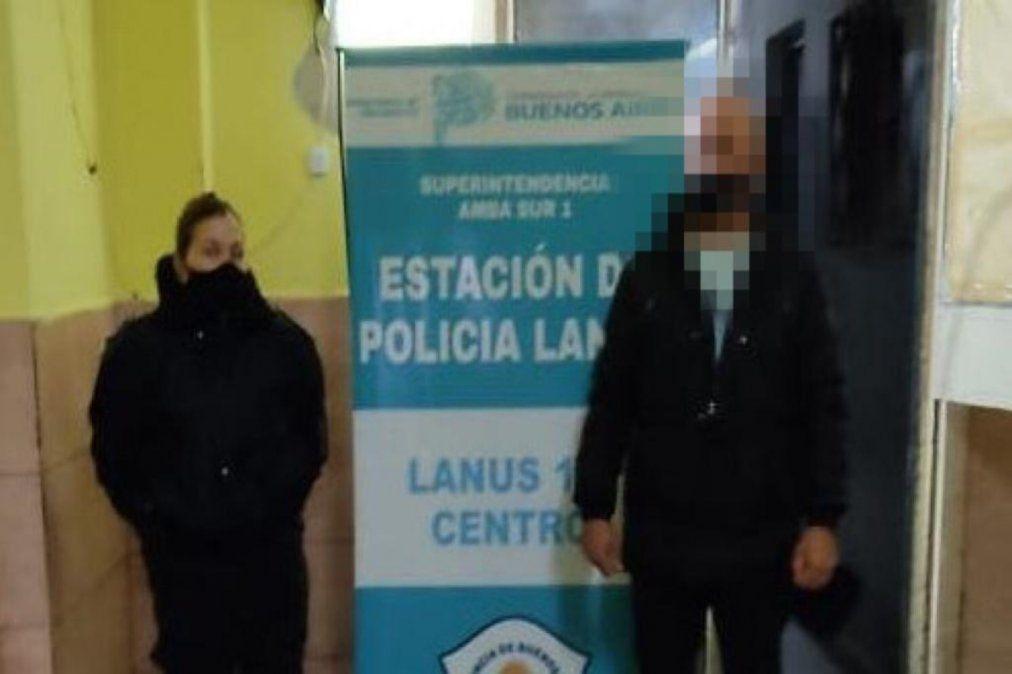 El hombre fue detenido en la comisaria N°1 de Lanús.