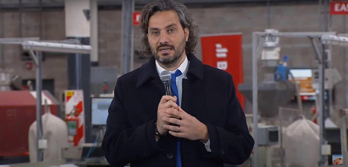 Cafiero presentó un programa de empleo en el parque industrial de Almirante Brown