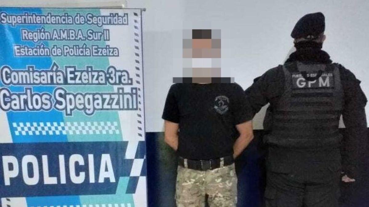 Ezeiza: se vistio de policía del Grupo Halcón y terminó detenido.