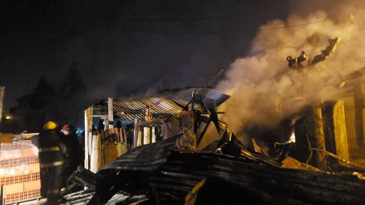 El Jagüel: el momento del incendio en cinco hogares