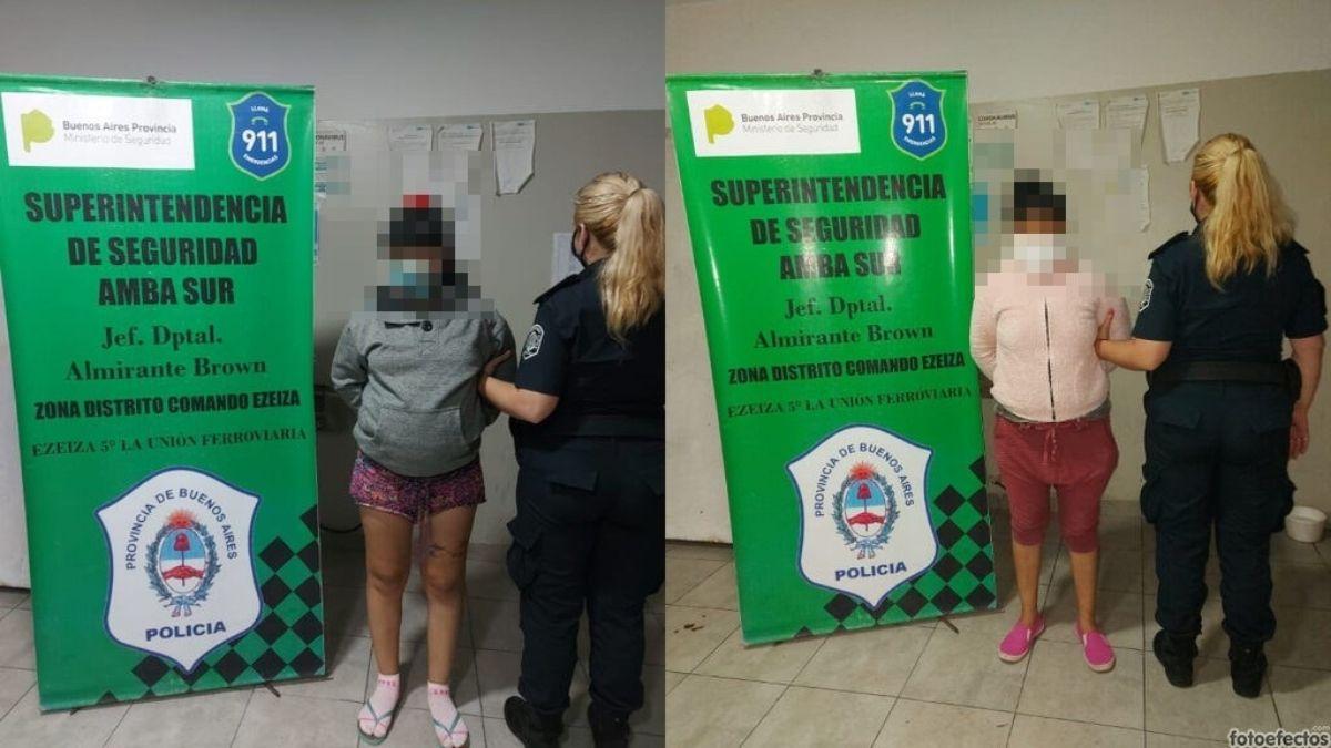 Detuvieron a dos mujeres que vendían droga en Ezeiza