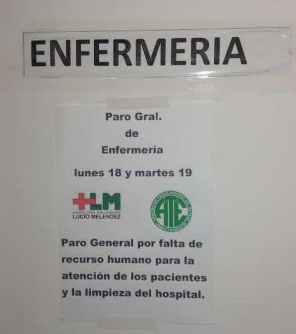 Paro en el Lucio Meléndez por el despido de trabajadores: Estamos saturados