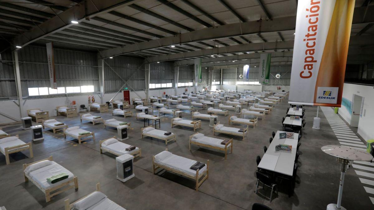 Ezeiza incorporó 120 camas para pacientes con Covid-19.
