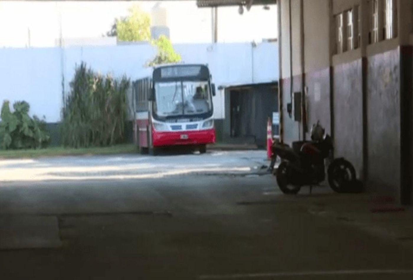 En este playón la empresa MOESA en Lanús sucedió el accidente por el cual el chófer afronta una causa por homicidio.