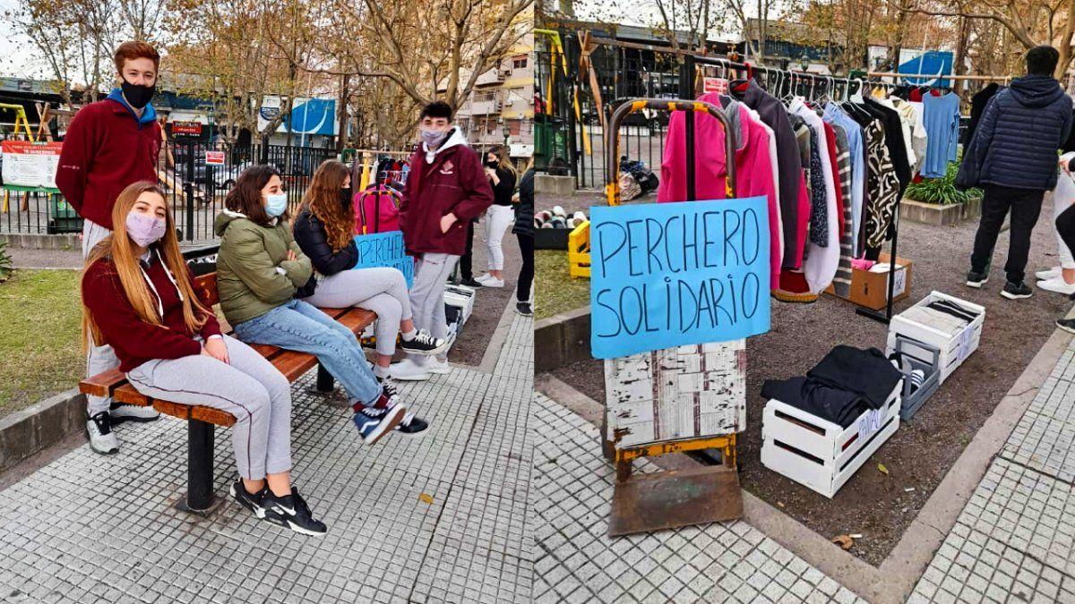Alumnos de Grilli Monte Grande organizan un ropero solidario