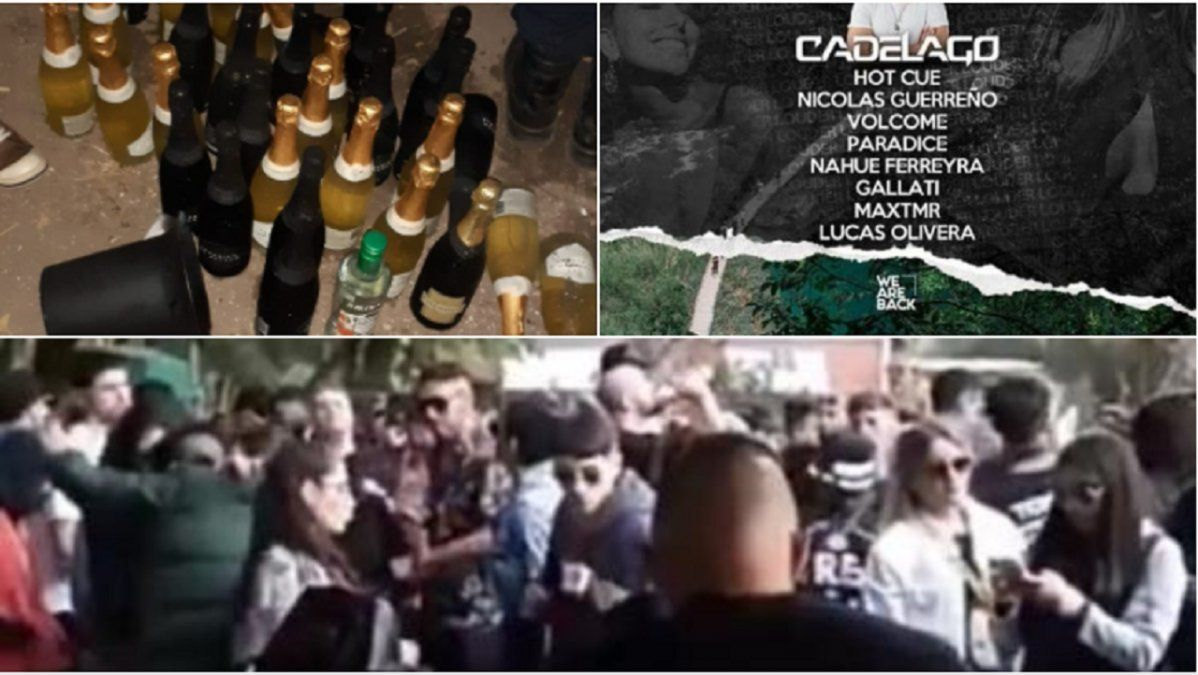 Fiesta clandestina en Monte Grande