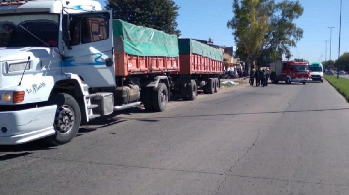 Trágica muerte de un camionero en Longchamps.