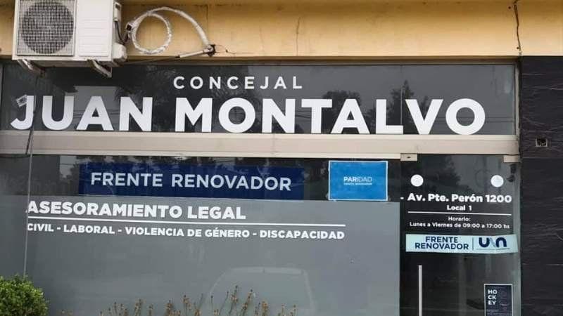 Extraño ataque en el local de un concejal de San Vicente