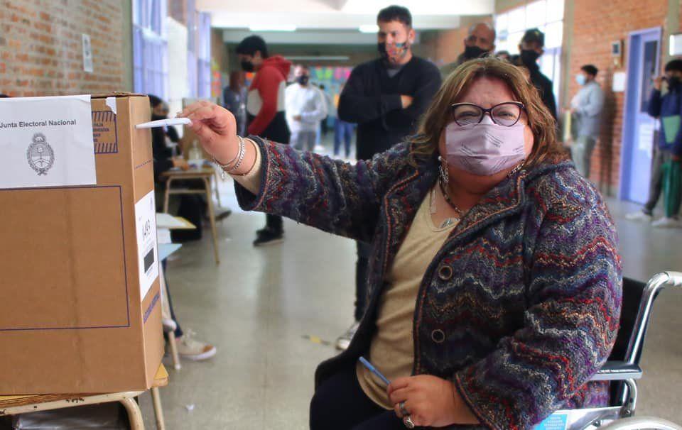 La candidata del Frente de Todos en Esteban Echeverría, Silvia Casas.