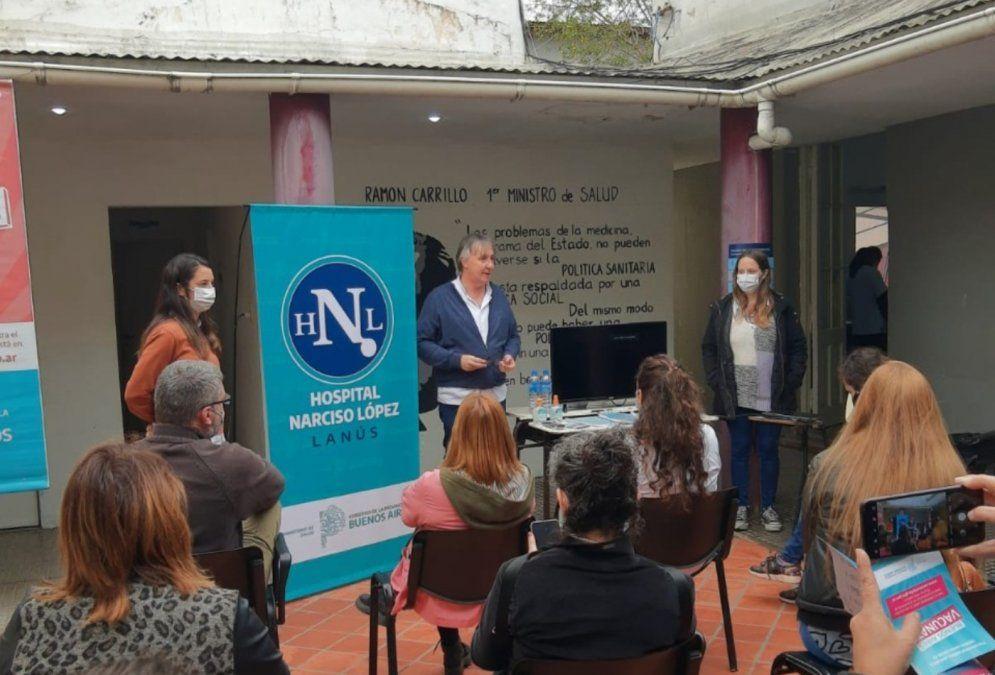 Presentación del proyecto en el Hospital Narciso López de Lanús.