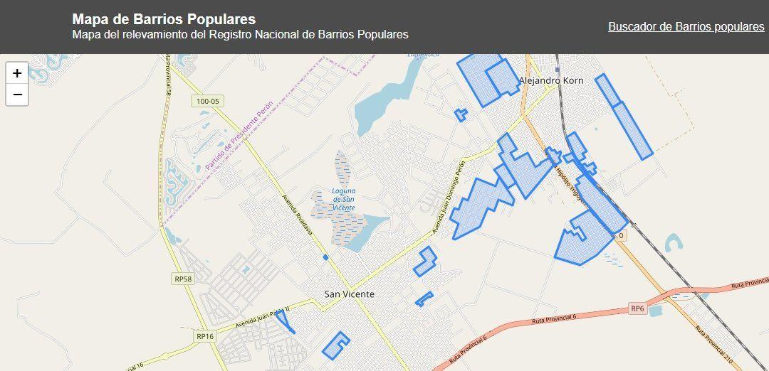 San Vicente tiene 20 barrios populares y apuntan a urbanizar uno o dos en los próximos meses