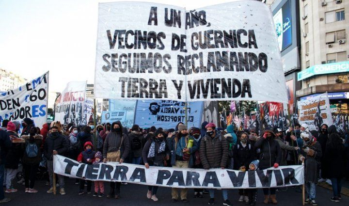 A un año de la toma de Guernica: protesta en reclamo de terrenos