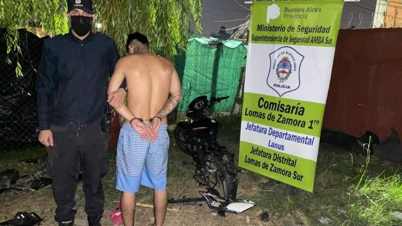 Lomas: desbaratan un desarmadero clandestino y detienen a un delincuente