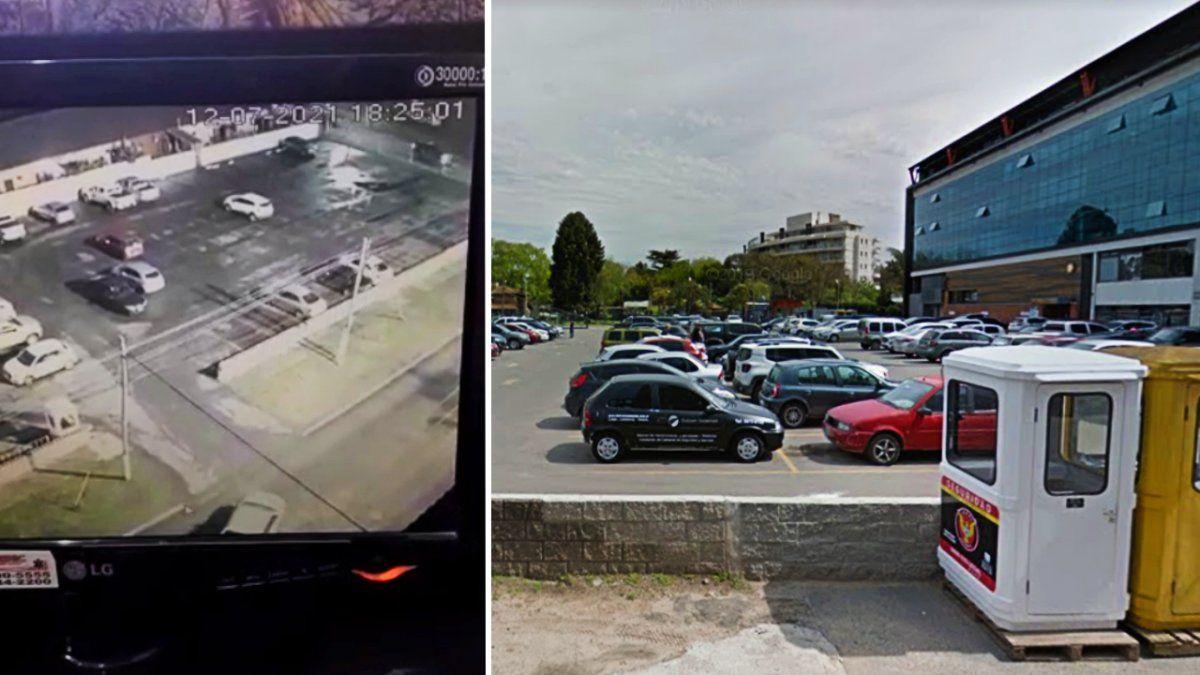 Roban autos de alta gama en el estacionamiento de Las Toscas